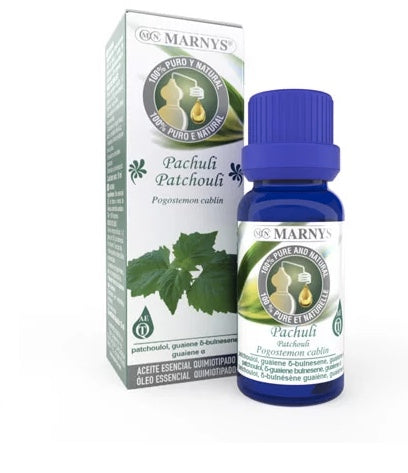 MARNYS Patchouli Essential Oil (Pogostemon cablin) is extracted by steam distilling the leaves.