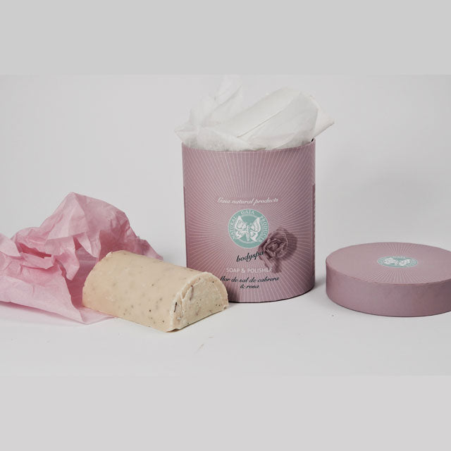 Gaia Natural Products Flor de Sal Rose Soap & Polisher