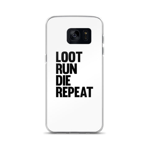Fortnite - Loot Run Die Repeat - Samsung Case - White