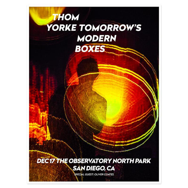 THOM YORKE EVENT POSTER SAN DIEGO