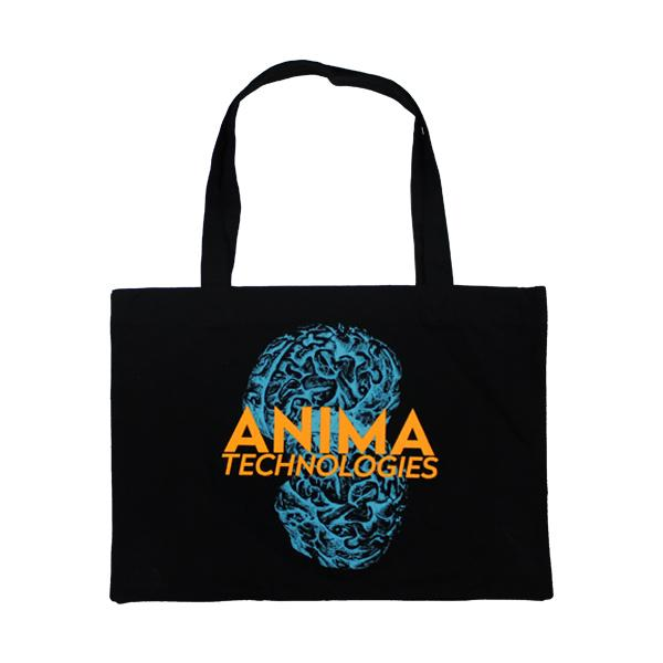 BLUE BRAIN BLACK TOTE