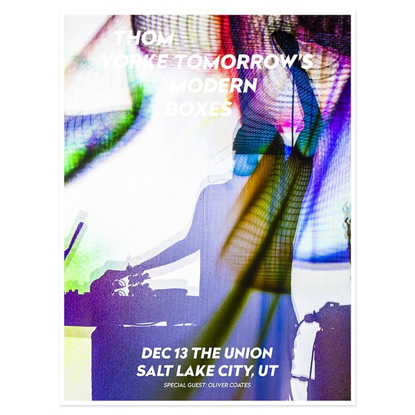THOM YORKE SALT LAKE EVENT POSTER