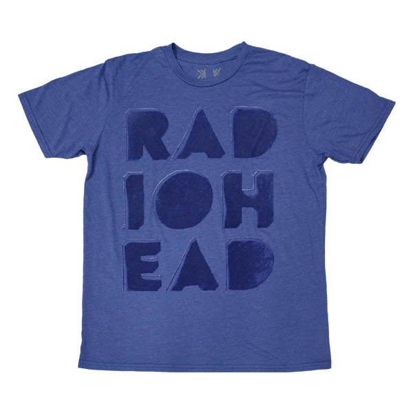 BLUE CUT OUT LOGO FLOCK T-SHIRT