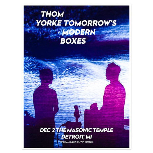 THOM YORKE DETROIT EVENT POSTER