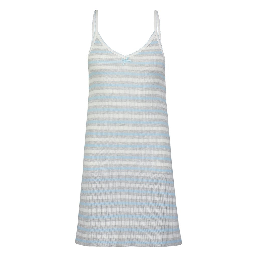CAMIDRESS Light Blue and Grey Lee Stripe