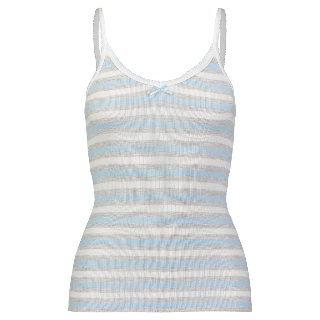 CAMISOLE Light Blue and Grey Lee Stripe