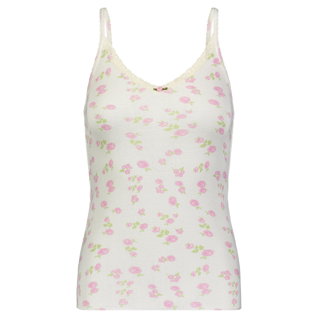 BASIC CAMISOLE PINK ROSE PRINT