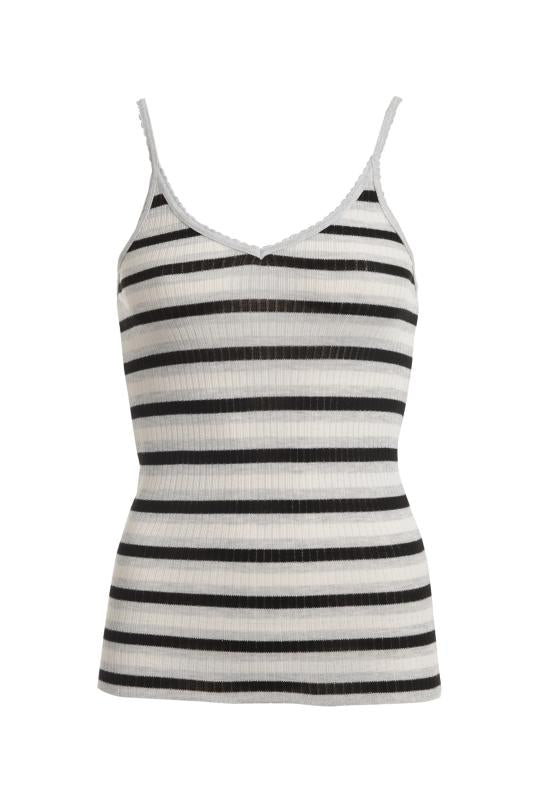 CAMISOLE  Black, Heather Grey, Cream Lee Stripe
