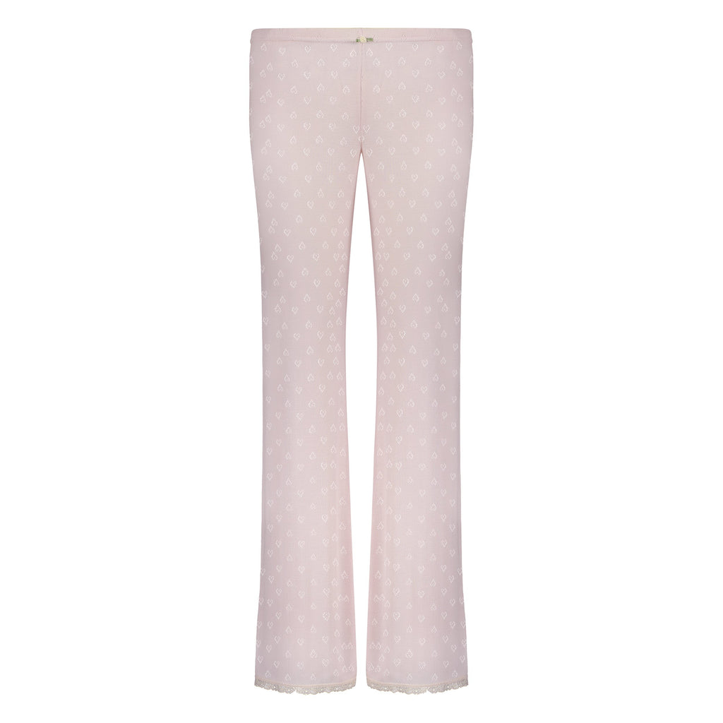 PANT Shell Pink Vintage Hearts w Cluny Lace -SOLD OUT