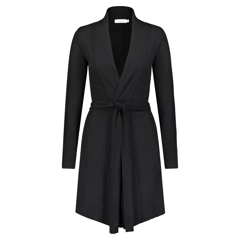 BLACK RIB Cardigan ROBE