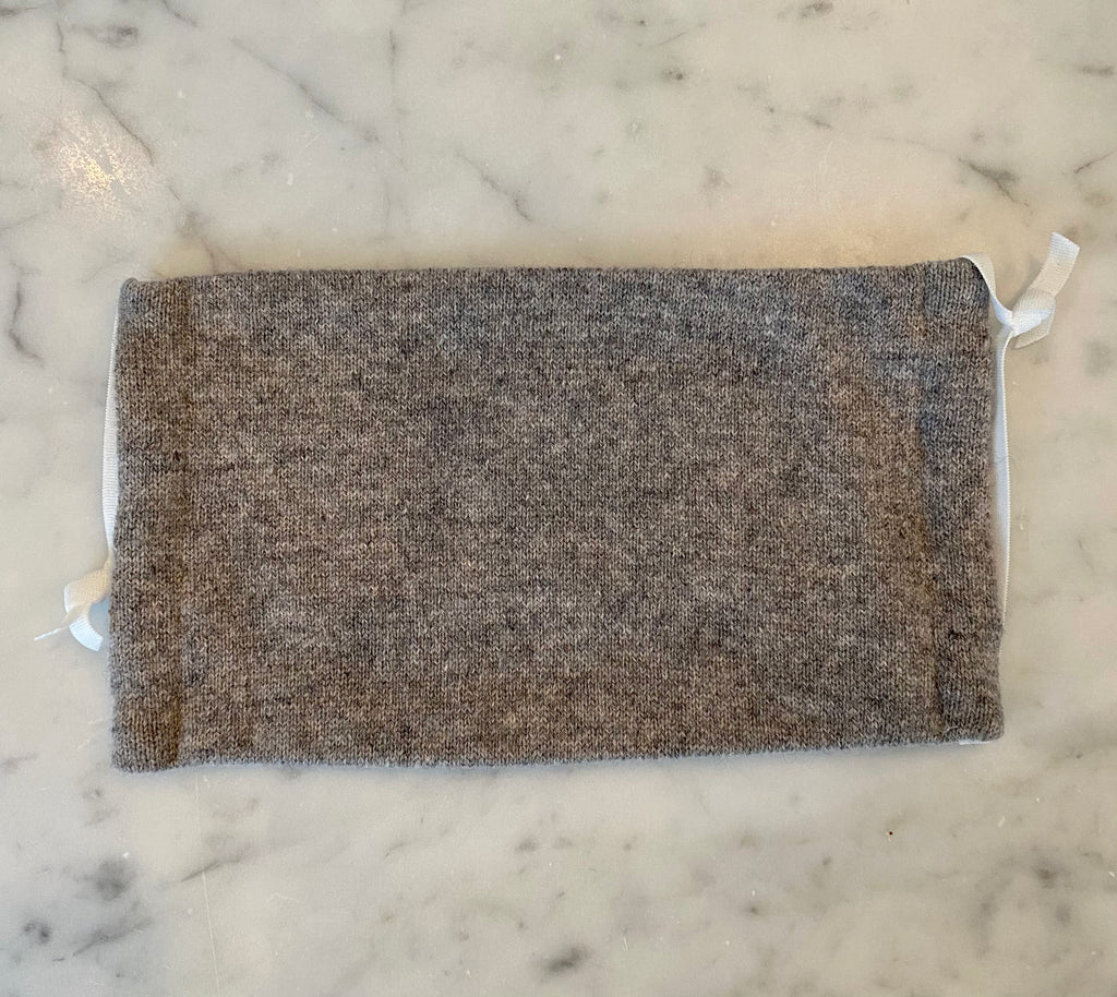 Cashmere Mask- Grey Solid Knit