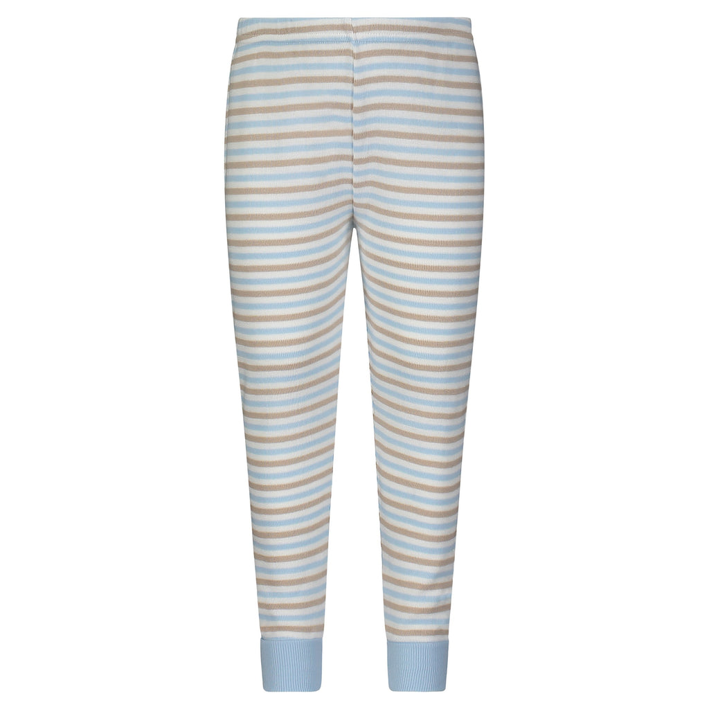 BOYS PJ PANT Blue/Khaki/Cream Sailor Stripe
