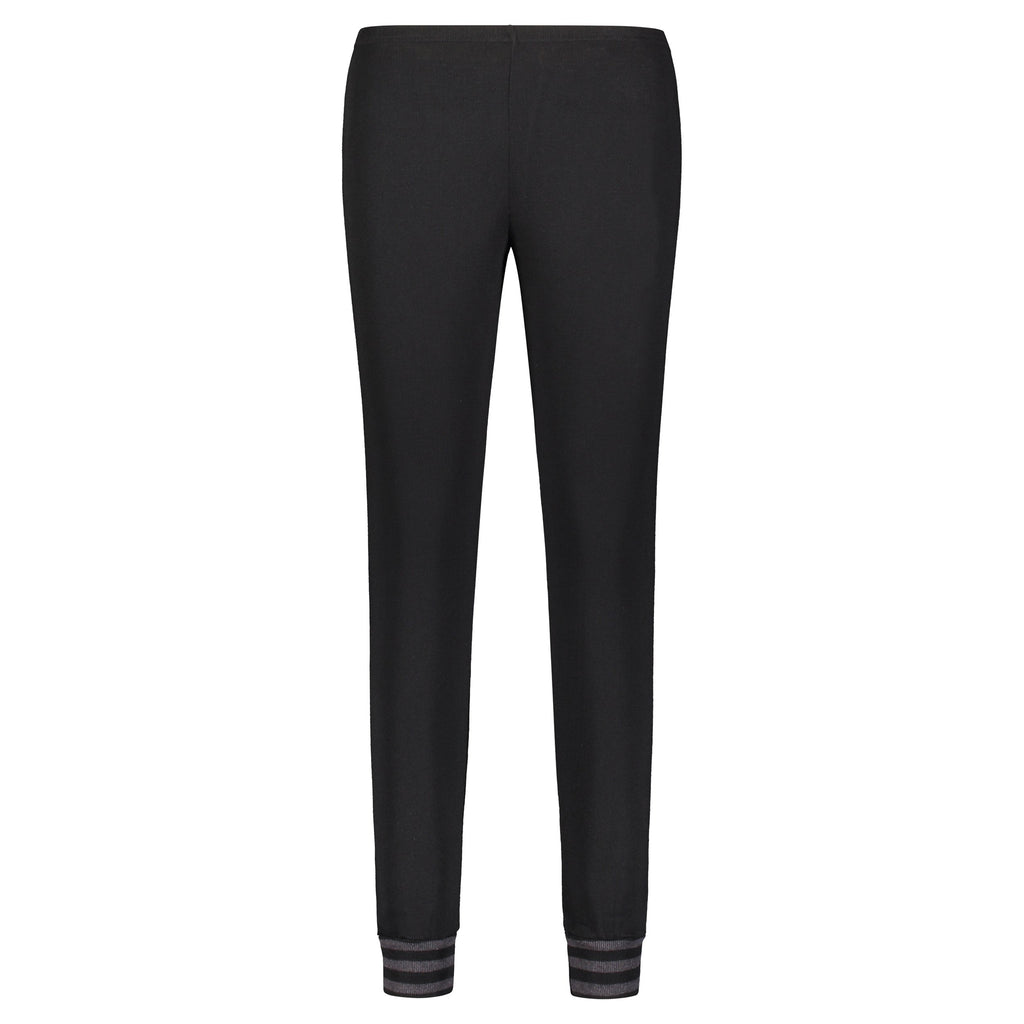 JOGGER Black w Charcoal Stripe Cuffs