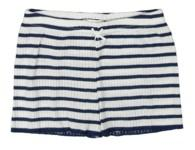 GIRLS SHORT Breton Rib Stripe Navy/Cream