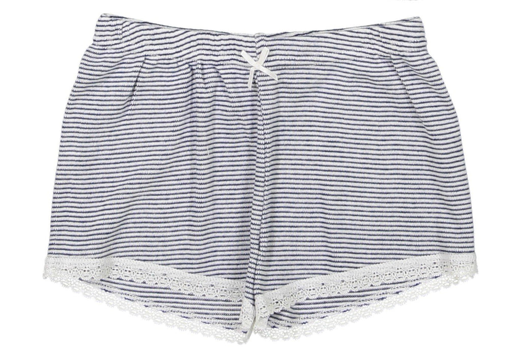 GIRLS SHORT Navy/Cream Skinny Stripe