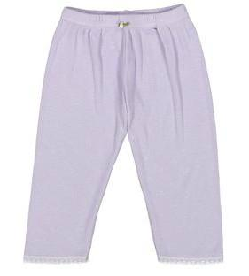 GIRLS PANT Lilac Vintage Hearts w Lace