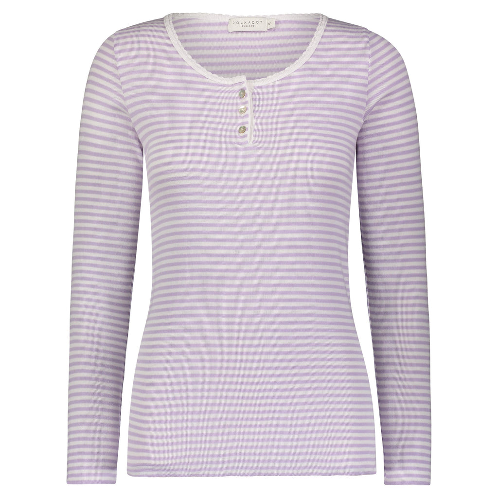 SLOUCHY HENLEY Lilac Sailor Stripe