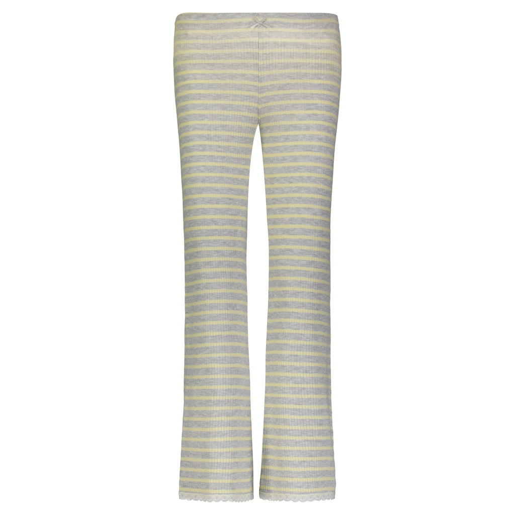 CROP PANT Yellow Breton Rib Stripe