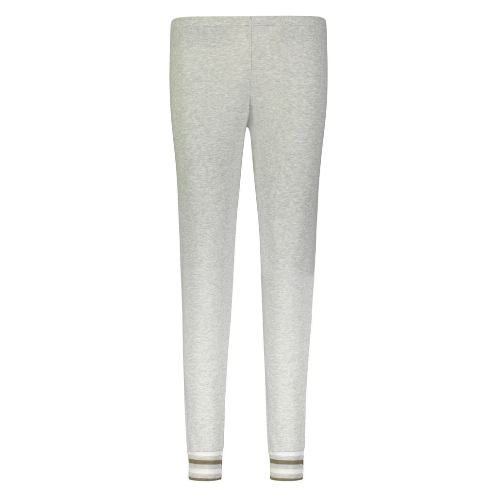 JOGGER Heather Grey w Loden Lee Stripe Cuffs