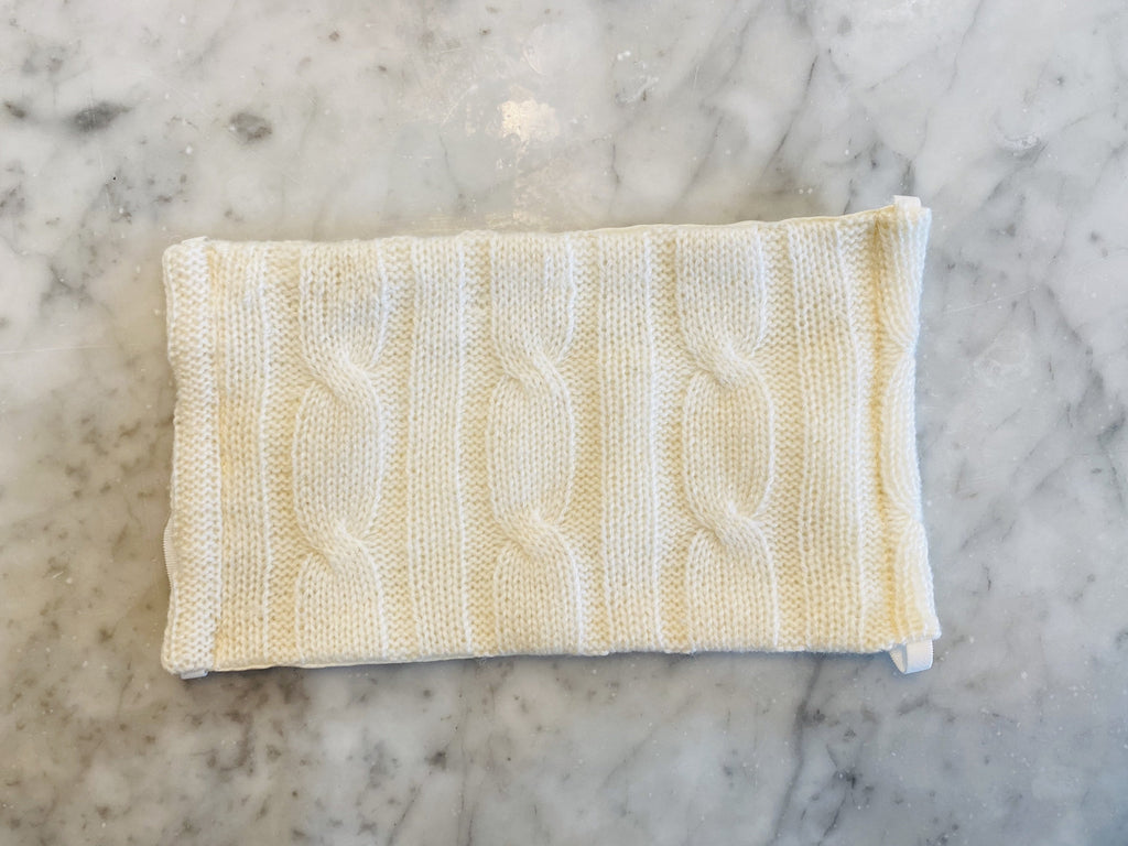 Cashmere Masks- Ivory Cable Knit