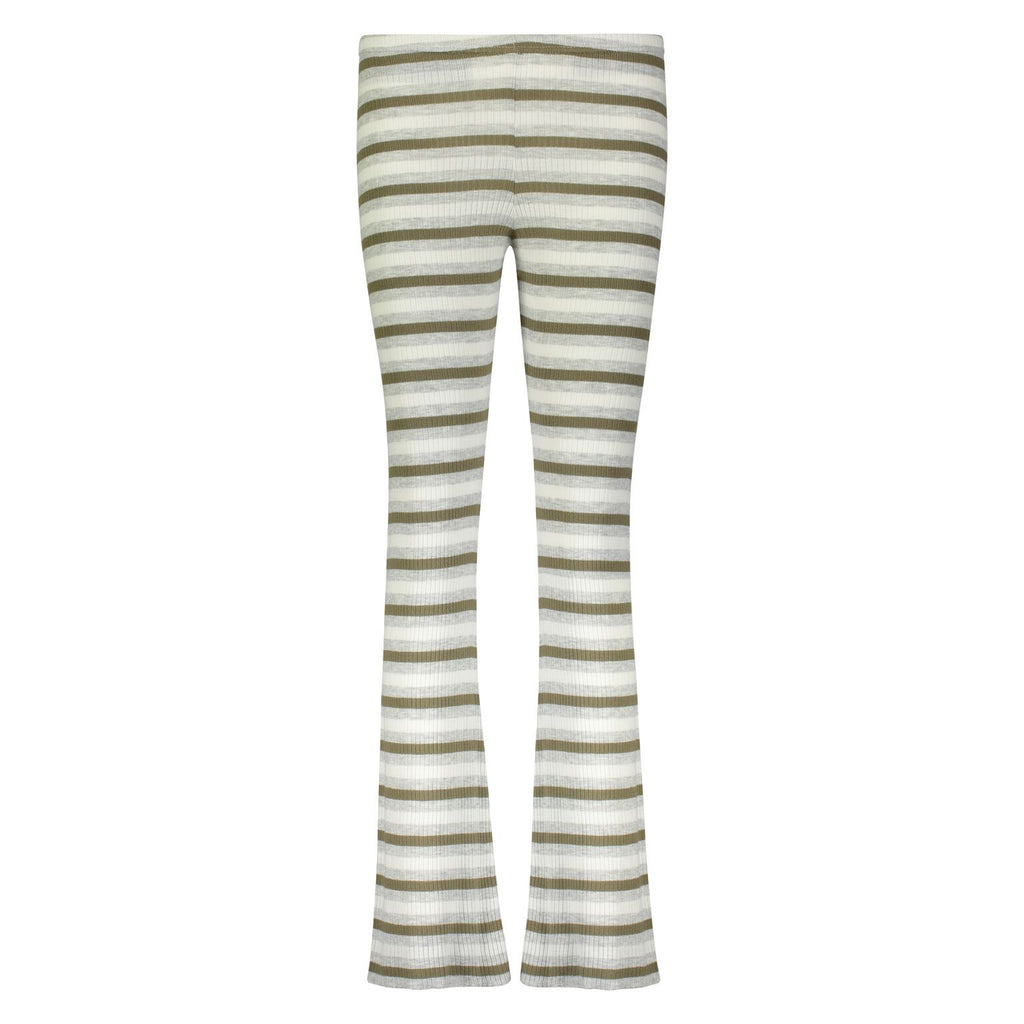 RIB PANT Loden Lee Stripe