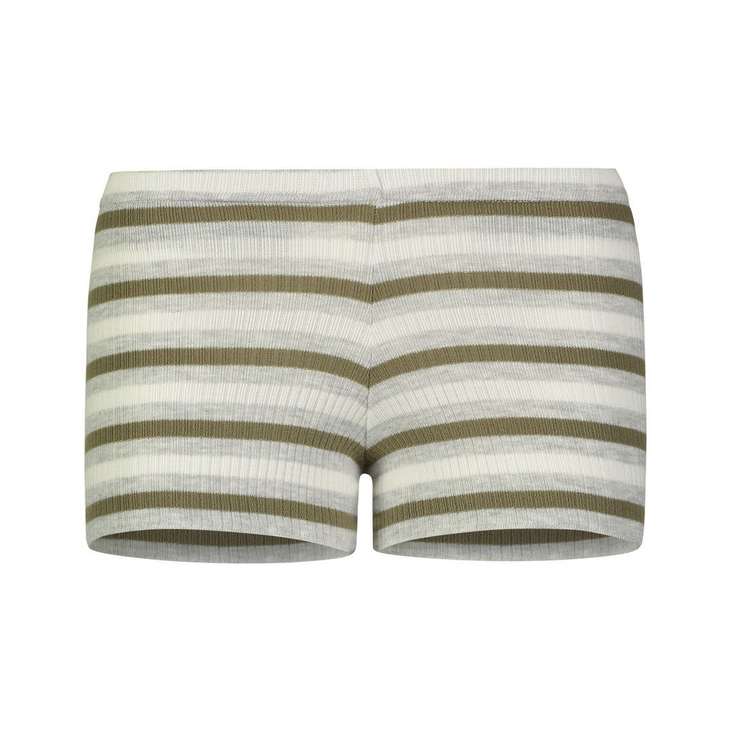 RIB SHORT Loden Lee Stripe