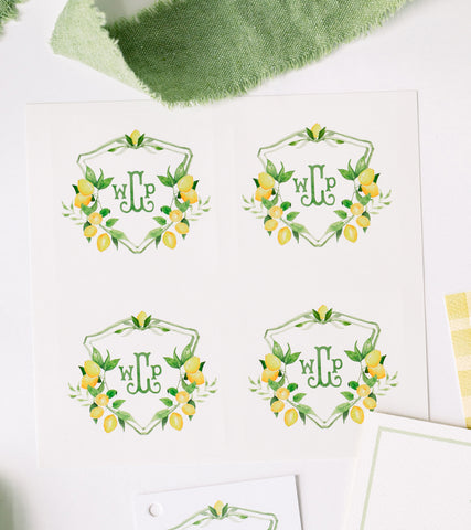 Lemon Crest Stickers