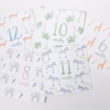 Boho Animal Milestone Card Set + Print Combination