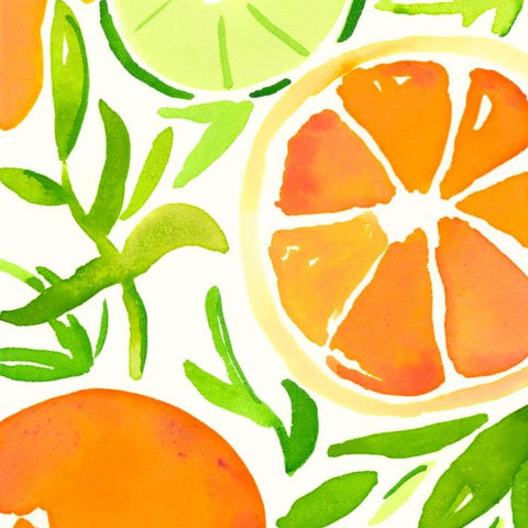 Orange Slices Note Cards