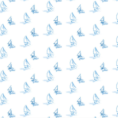 Blue Sailboat Wrapping Sheets