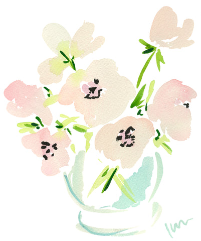Pink Poppies Print