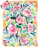 Pink and Yellow Peonies Print