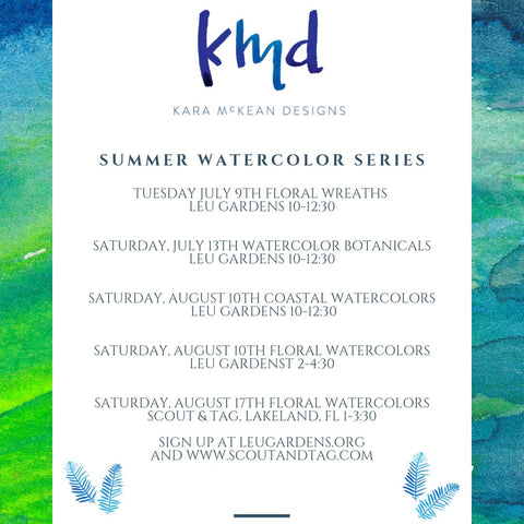Summer Watercolor Series!