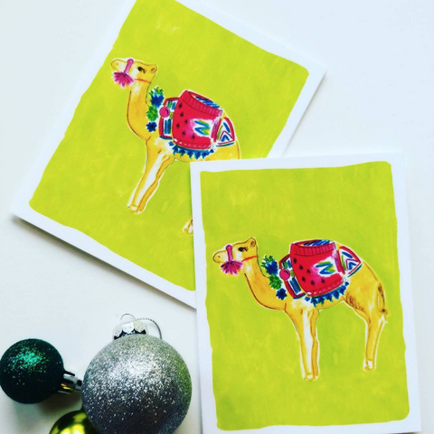 Thirsty Camel Note Cards