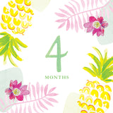 Tropical Baby Milestone Card Set