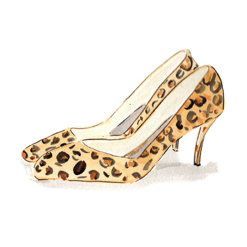 Leopard Stilettos Stickers