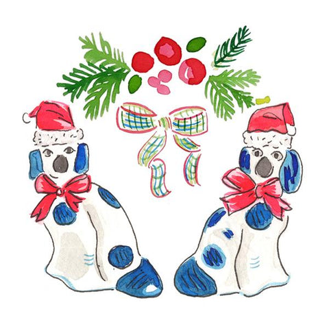 Staffordshire Dogs Gift Tags