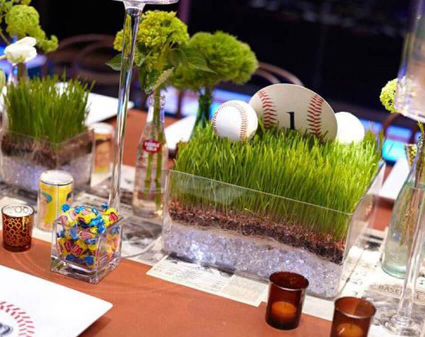 Centerpiece | Artificial Grass weird Cuts