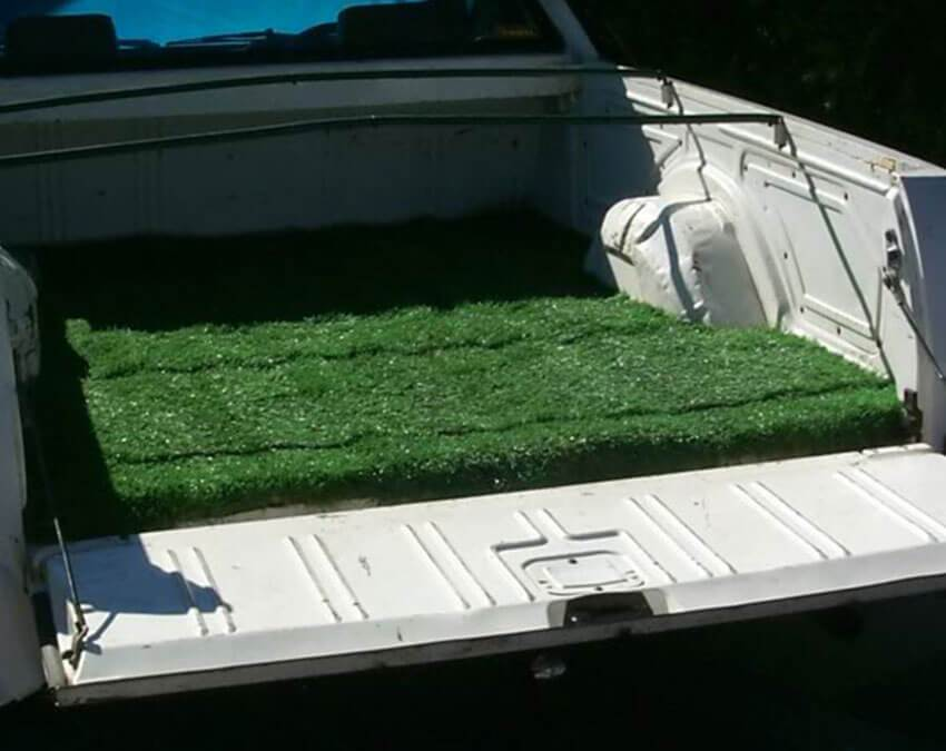 Ute Tray Mat | Artificial Grass weird Cuts