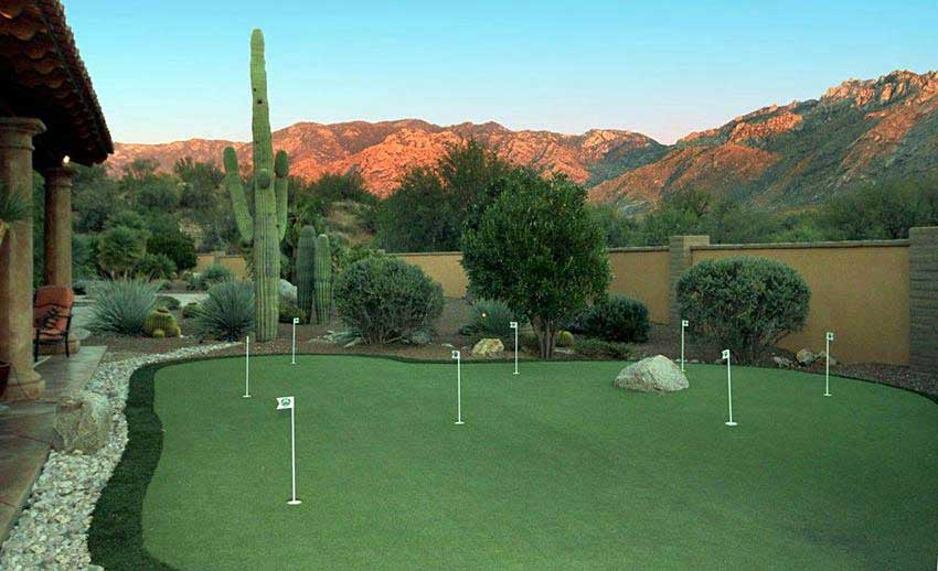 A Stunning Desert Putting Green