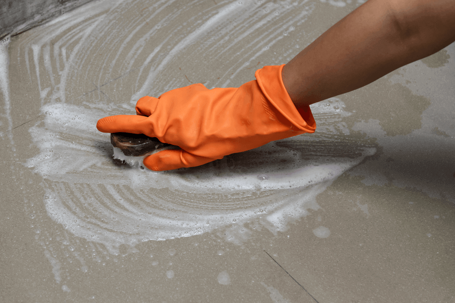 Clean existing concrete