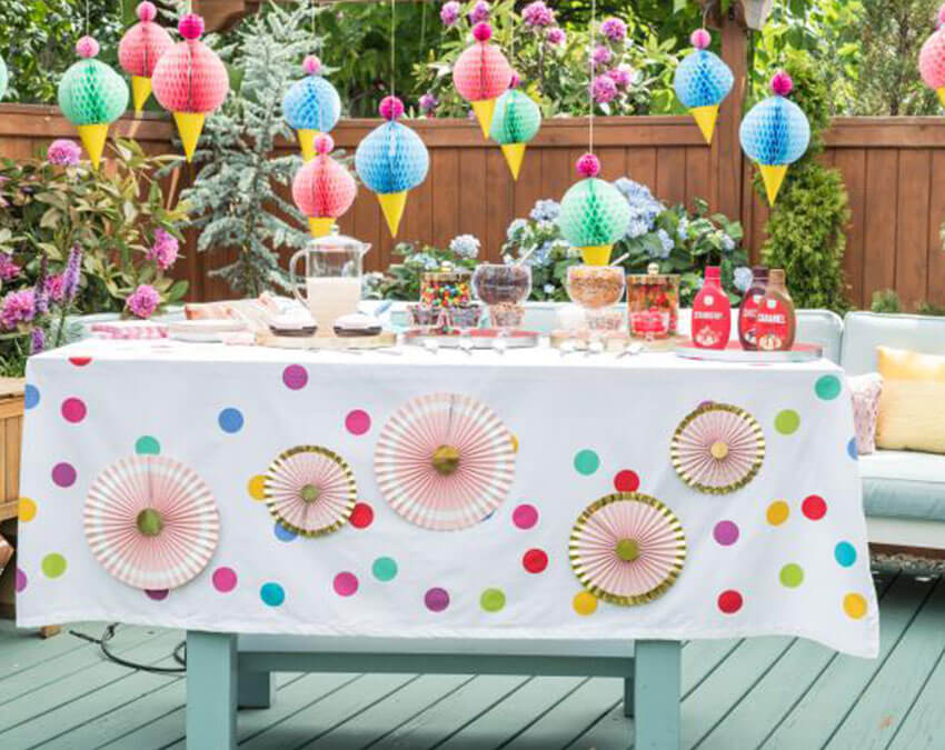 Ice Cream Party | Outdoor Party Ideas