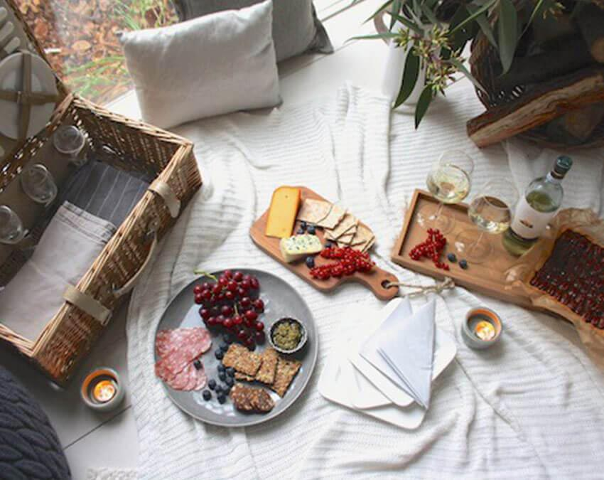 Cozy and Cheesey | Cutest Indoor Picnics