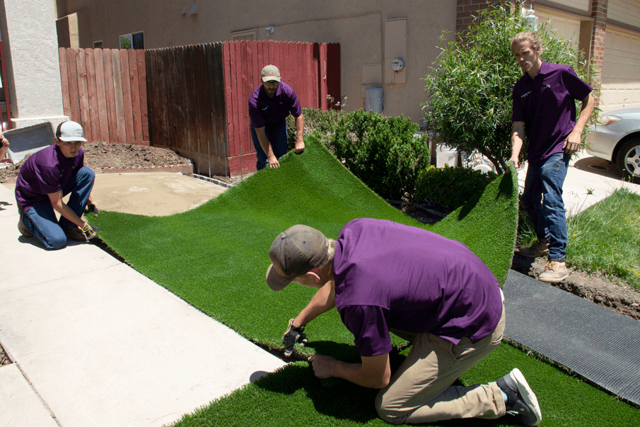 STEP FOUR: Attach your Artificial Grass