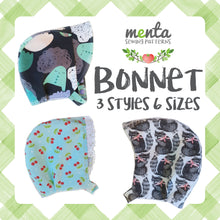 Menta Bonnet 3 styles/6 sizes + Bunny/Bear ears
