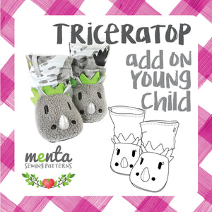 Young Child Triceratops Add-on