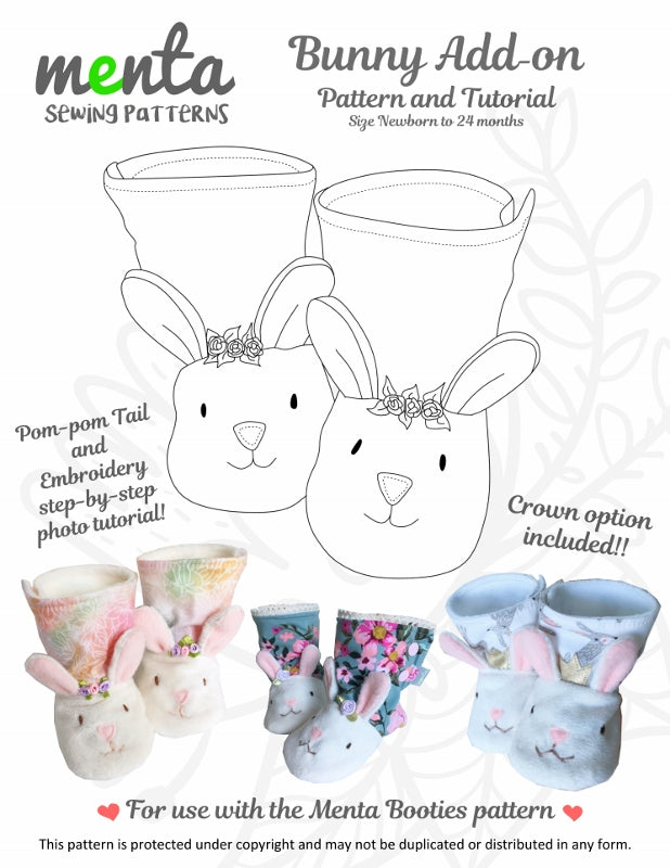 Baby Bunny Booties Add-on