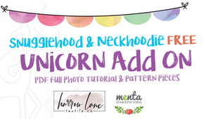 FREE Sungglehood/Neckhoodie Unicorn Add-on