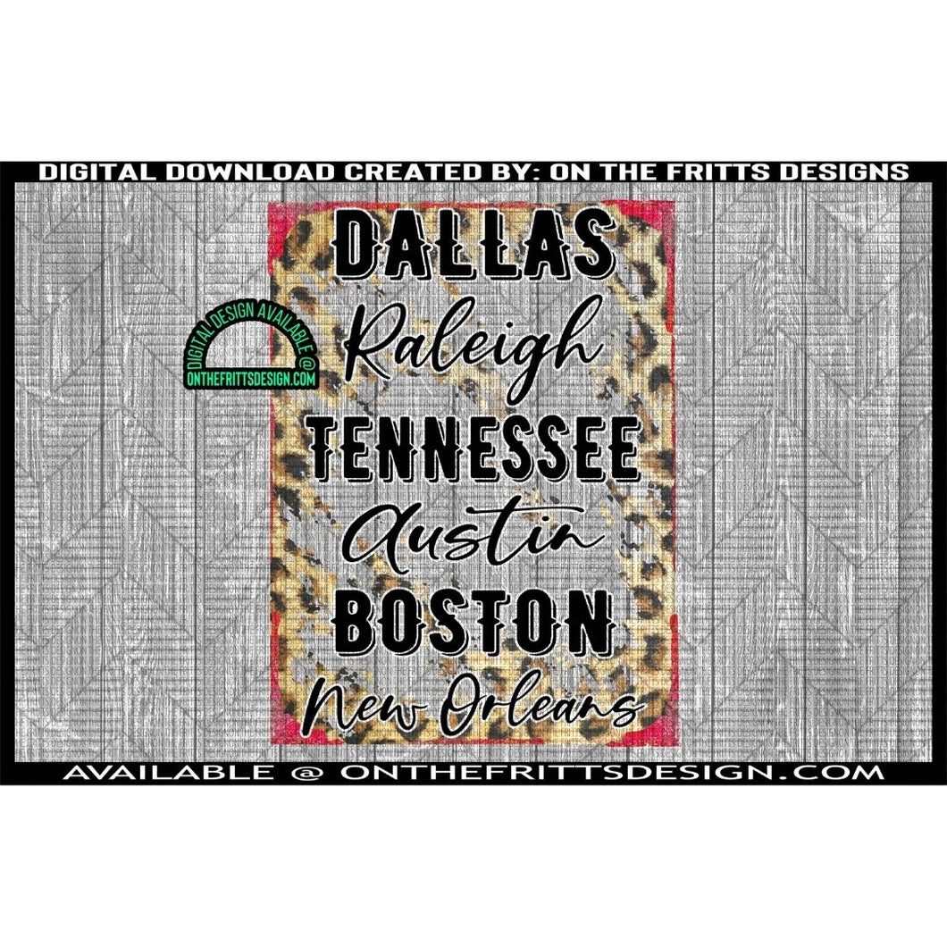 Dallas Raleigh Tennessee Austin Boston New Orleans