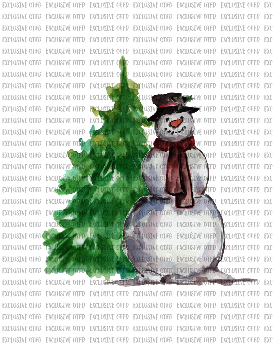 Frosty with tree